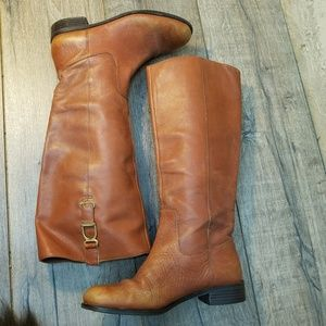Banana Republic Cognac distressed leather boots